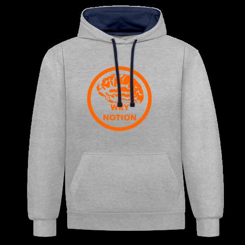 WRYNOTION Brain Logo - Kontrast-Hoodie