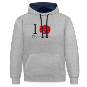 I Love Photography Collection - Kontrast-Hoodie