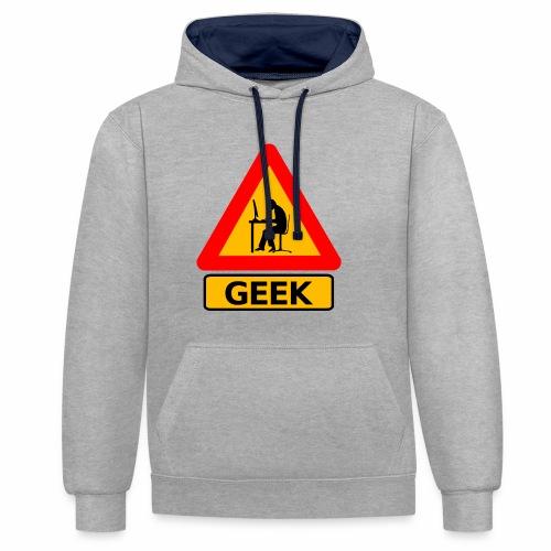 Geek - Sweat-shirt contraste