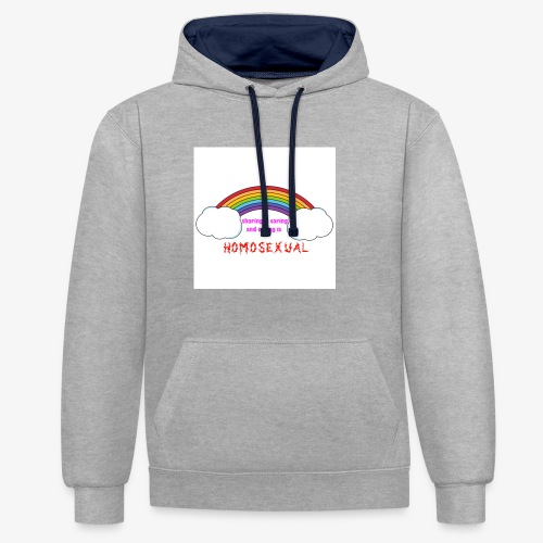 ironic clothes mocking those with extremist veiws - Contrast Colour Hoodie