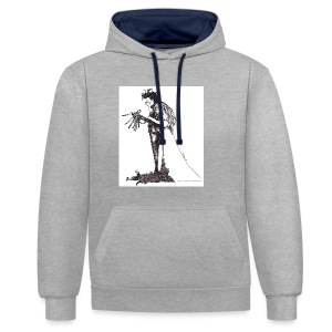 EdwardScissorhands.jpg - Contrast Colour Hoodie