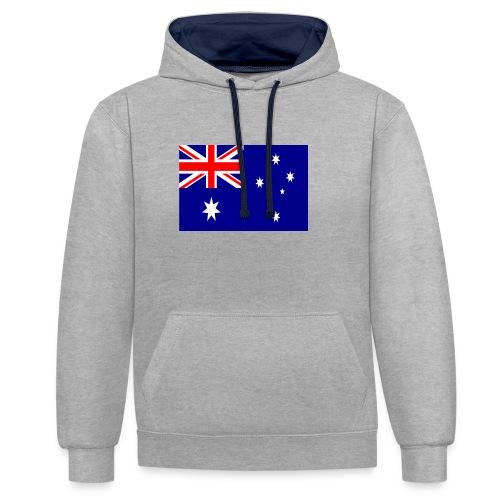 Australia flag - Contrast Colour Hoodie