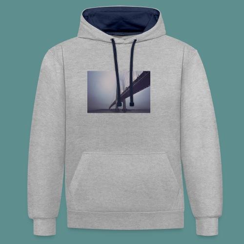 suspension bridge - Contrast hoodie