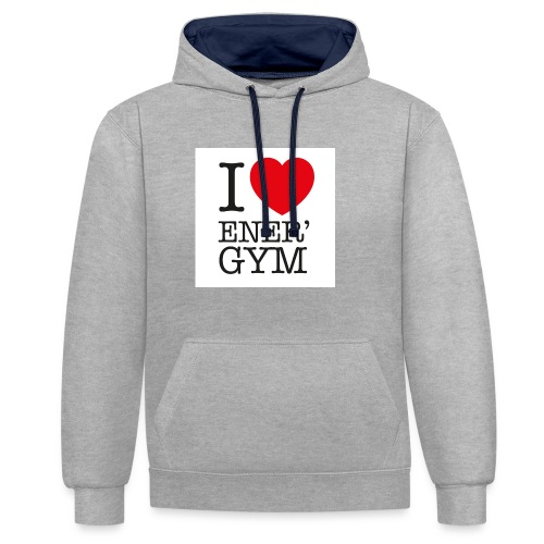 I love Ener'gym - Sweat-shirt contraste