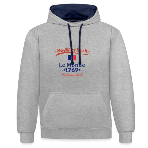 Adventure Spirit France - Kontrast-Hoodie