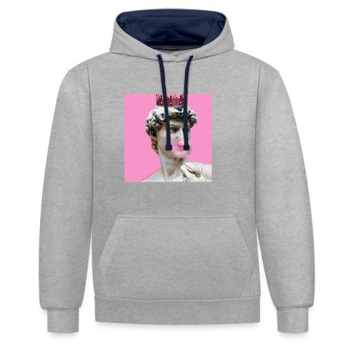 pink god - Bluza z kapturem z kontrastowymi elementami