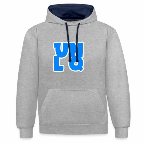 Mit dem Orginalen UNLQ Logo - Kontrast-Hoodie