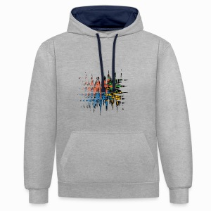 damn - Contrast Colour Hoodie