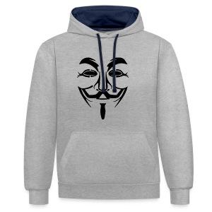 anonym vendetta - Kontrast-Hoodie