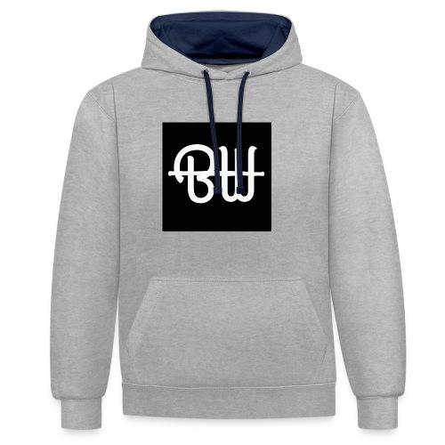 BW simple logo - Contrast hoodie