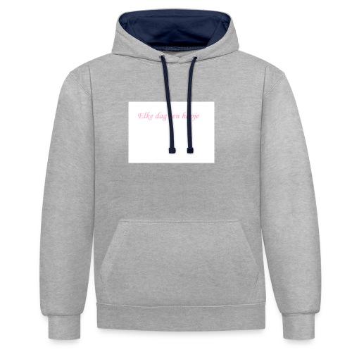Elke dag een hapje - Contrast hoodie
