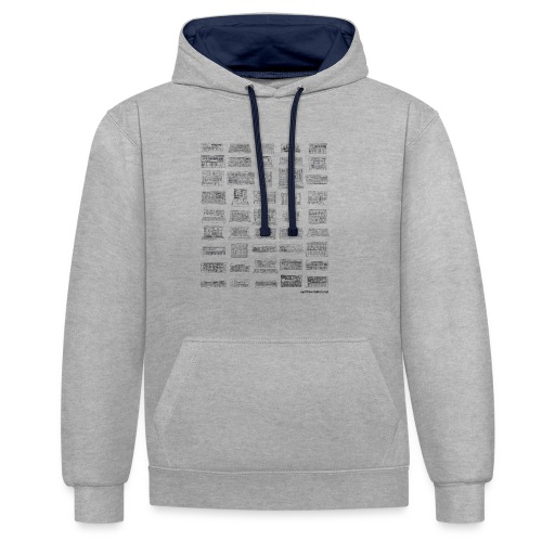 Synth Evolution T-shirt - White - Contrast Colour Hoodie
