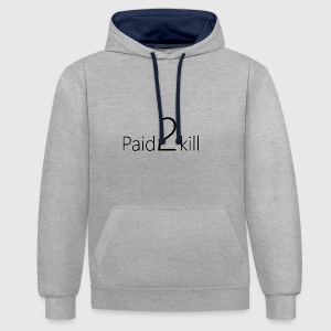 Paid2Kill - Sweat-shirt contraste