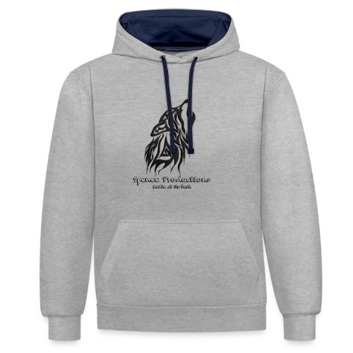 New Wolf - Contrast Colour Hoodie