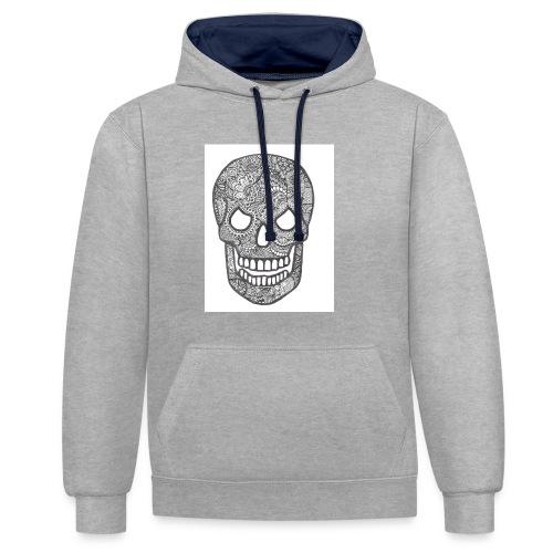 Zentangle Skull 1 - Contrast hoodie