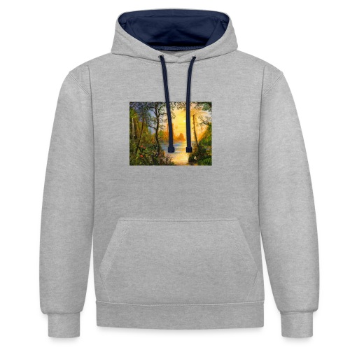 Temple of light - Contrast Colour Hoodie