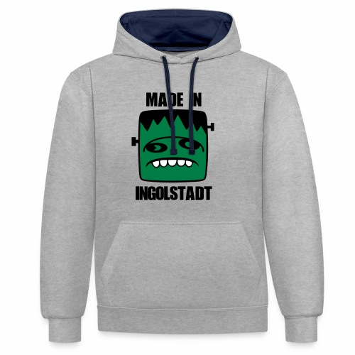Fonster made in Ingolstadt - Kontrast-Hoodie
