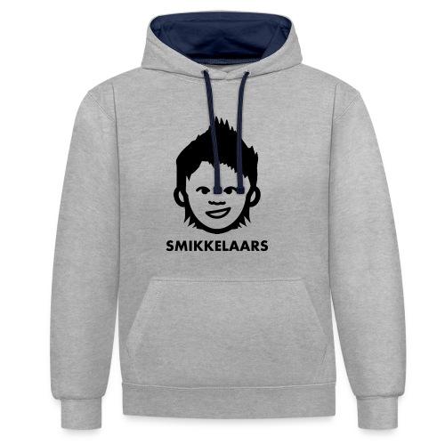 Button met logo - Contrast hoodie