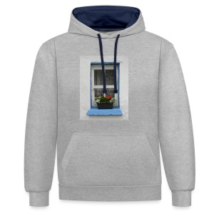 Cashed Cottage Window - Contrast Colour Hoodie