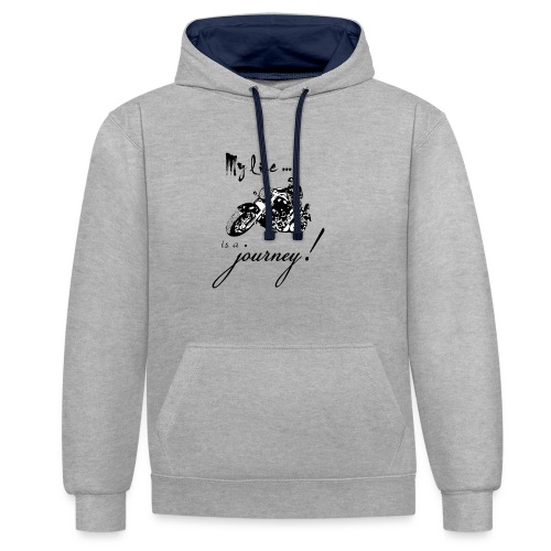 Life is a journey - Contrast Colour Hoodie