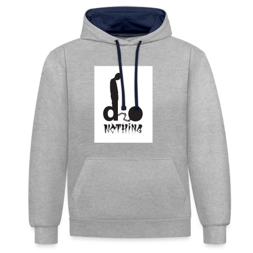 Elro - Do Nothing merchandise. - Contrast Colour Hoodie