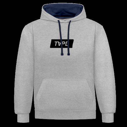 TAPE SHAPE BLACK - Contrast hoodie