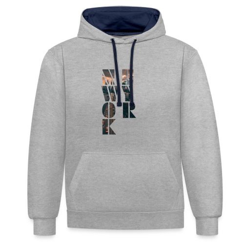 New York Cutout - Contrast Colour Hoodie