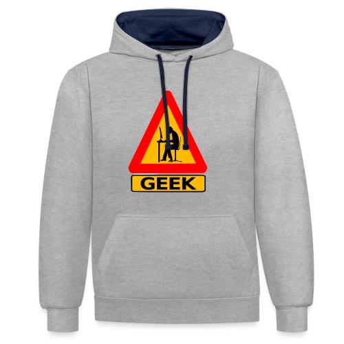 geek_warning - Sweat-shirt contraste