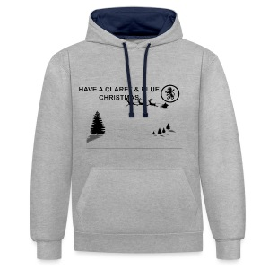 Claret and Blue Xmas - Contrast Colour Hoodie
