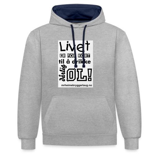 Møre&Romsdal Heimebryggarlaug t-shirt - Kontrast-hettegenser