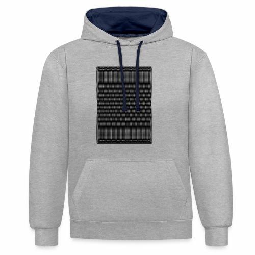 Moire III [Noir] - Sweat-shirt contraste