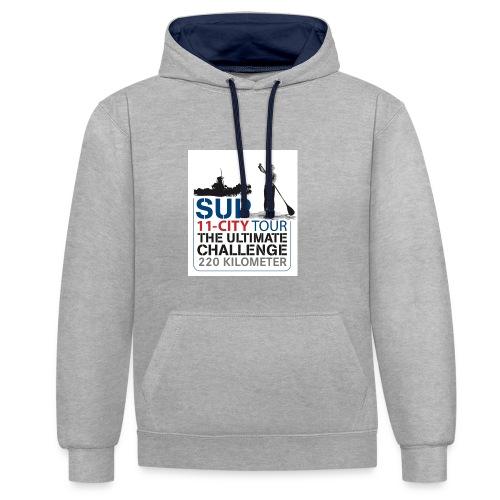 SUP11 City Tour Logo Shirt - Contrast Colour Hoodie