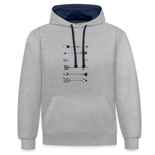 pijlen - Contrast hoodie