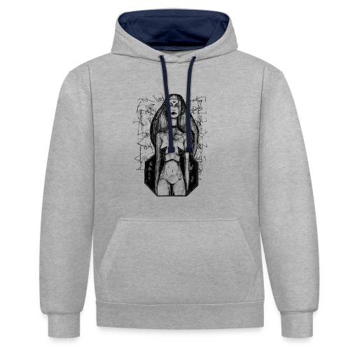 Swastika Space - Contrast hoodie