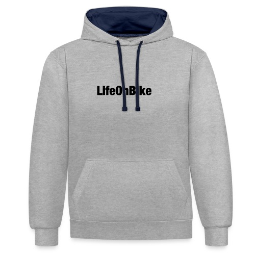 LifeOnBike - Kontrast-Hoodie