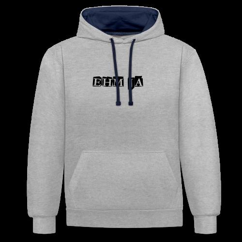 Ehm Ja Shirt - Kontrast-Hoodie