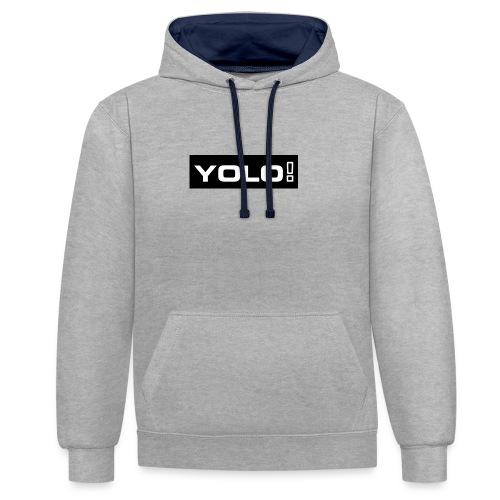 Yolo merch - Kontrast-Hoodie