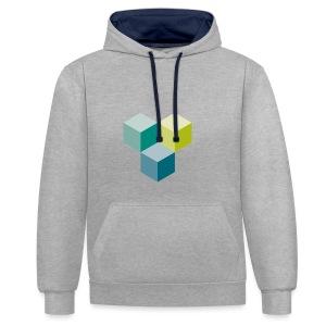 Cube - Kontrast-Hoodie