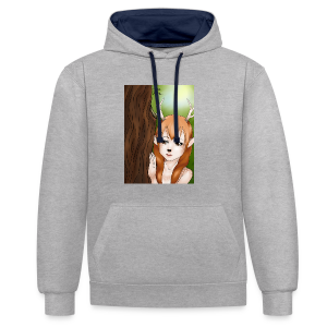 Womens tank: Deer-girl Design by Tina Ditte - Contrast Colour Hoodie
