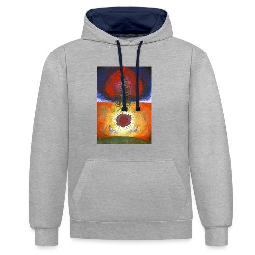 Safely - Bluza z kapturem z kontrastowymi elementami