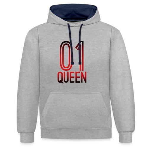 Queen Hoodie - Kontrast-Hoodie