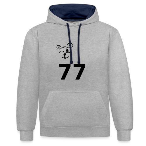 77 for the win - Kontrast-Hoodie