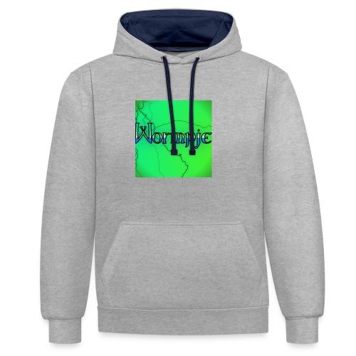 wormpje - Contrast hoodie