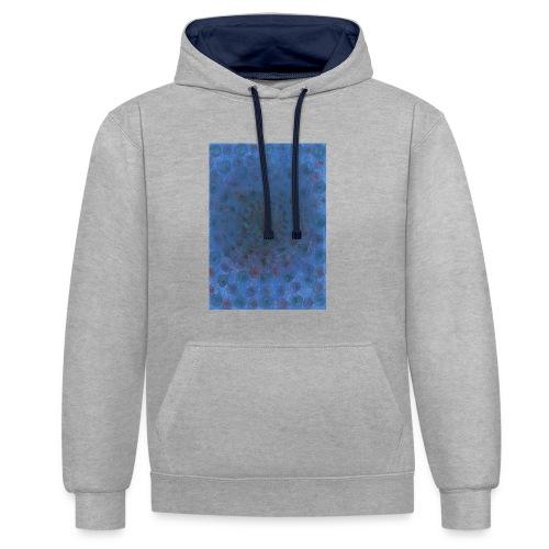 Blue Sky - Bluza z kapturem z kontrastowymi elementami