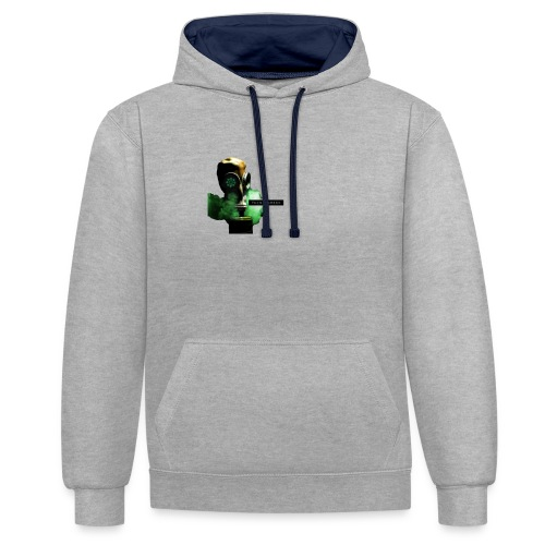 think green get lean - Contrast Colour Hoodie