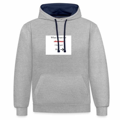 christmas - Contrast Colour Hoodie