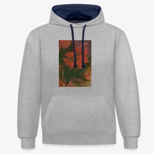 Flower 6 - Bluza z kapturem z kontrastowymi elementami