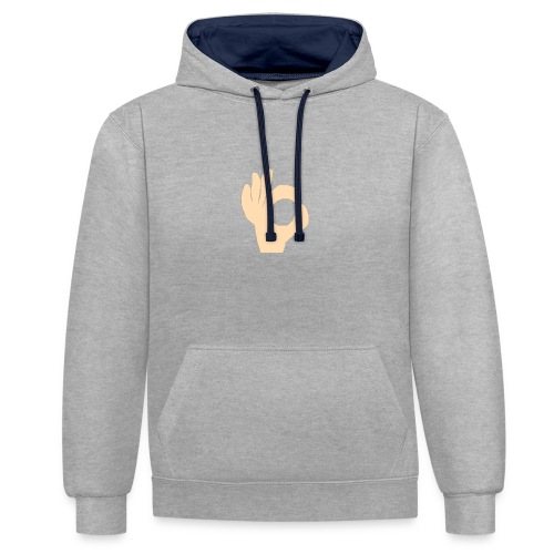 the hand - Contrast hoodie