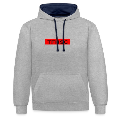 The Red TFHSC Logo - Contrast Colour Hoodie