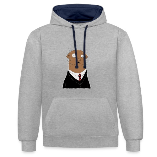 Office Otter - Kontrast-Hoodie